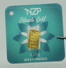 0.01 gram mini gold bar 999,9 world smallest real gold bar 0,01 gr 1/100 gr