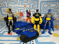 "Batman Power Attacks bundle 4x 6"" Action Figures and Tank DC Comics Mattel Xmas"