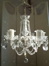 ~~ beautiful ~ glass clad vintage french lead crystal chandelier ~~ 2 of 2~