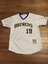 Milwaukee Brewers Robin Yount Mitchell And Ness STITCHED JERSEY SIZE M