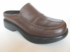 Dansko Madigan Brown Leather Mule Open Clogs Professional Shoe Size 39 US 8.5