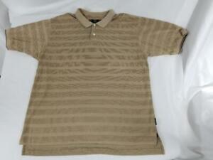 Mens Nike Golf Short Sleeve Polo Shirt Beige Cotton Polyester Size XL