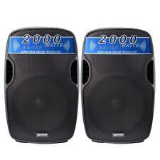 GEMINI AS 15P coppia casse amplificate diffusori attivi per dj karaoke live ecc.