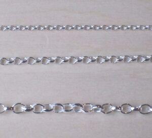 925 Sterling Silver Belcher Chain Bracelet Necklace Anklet MULTI WIDTH & LENGTH