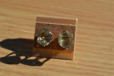 6.03ct Color Change Turkish Diaspore Solitaire Earrings 14K YG over Silver10x9mm