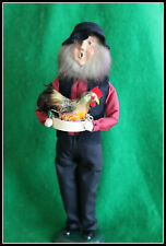 Byers Choice 2005 Amish Man holding a chicken Signed Rare
