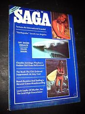"August 1974 MEN'S MAGAZINE ""SAGA"" torture international scandal Killer Sharks"