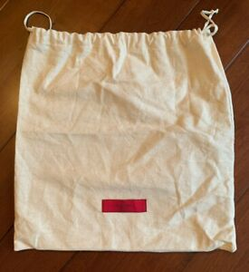 "New Authentic Valentino 13"" X 13"" Cotton Dust Travel Storage Bag"