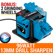 96W ELECTRIC MULTI TOOL SHARPENER DRILL BIT 13MM KNIFE SCISSOR 2XGRINDING WHEELS