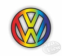 Large VW Rainbow Sticker Decal Funny Car Van Volkswagen Dub Bug Camper Bus
