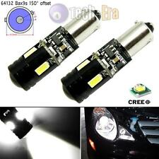 2x White BAX9S Error Free 9W CREE LED Bulbs for Parking Position Light 64132 H6W