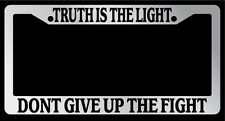 """Chrome License Plate Frame """"Truth is the Light Bob Marley"""" Auto Accessory"""