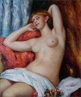 Quality Oil Painting Repro Renoir, Pierre-Auguste Sleeping Bather, 1897 20x24in