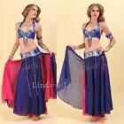 Sexy 2 Pics Belly Dance Costume Set Bra & Belt B to D Size 36B-40D Plus Size 6/2
