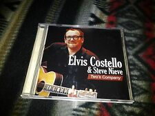 Two's Company Elvis Costello Steve Nieve  Live CD rare Signed