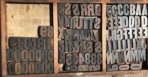 """Lot 110 Antique Vintage Wood Letterpress Print Type Block Letter Number 2.5"""" 20s"""