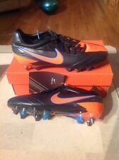 New Nike T90 Laser IV KL SG-PRO Soccer Boots Shoes Black/TTL Orange Size 7.5