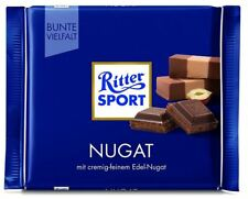 15 x RITTER SPORT NUGAT / NOUGAT CHOCOLATE - FROM GERMANY ! GERMAN CANDY
