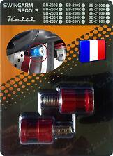 2 Diabolos anodisés Rouges pour béquille stand atelier Honda Suzuki KTM