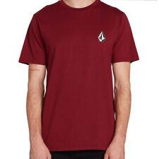 "Volcom ""Deadly Stone"" Short Sleeve Tee (Cabernet) Men's Graphic Surf Shirt"
