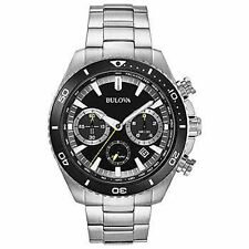 Bulova 98B298 Men's Chronograph Black Dial Stainless Steel Watch