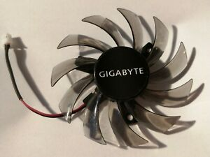 Gigabyte 75mm T128010SM 2 pins Replacement Graphics Card Cooling Fan