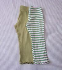 Gymboree lot of two leggings w/ruffled lettuce edges, green, size 2T