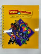 5TH GRADE Houghton Mifflin Spelling & Vocabulary TEACHER EDITION 5 MISSING CDS