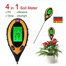 DE Durable 4 In 1 Moisture Temperature Sunlight PH Garden Soil Tester Meter