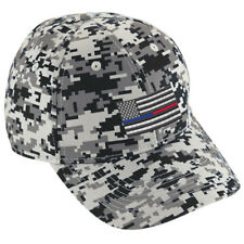 Thin Blue Red Line American Flag Police Firefighter Law Fire Digital Camo Hat