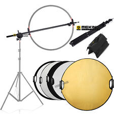 NEW Pography Studio Reflector Disc Diffuser Holder Stand Boom Arm Support Kithot