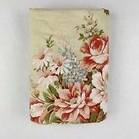 Ralph Lauren Twin Flat Sheet River Floral Beige Floral Vintage