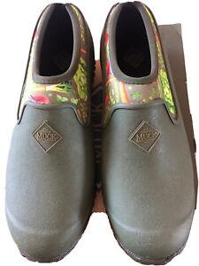 Ladies Muck Boots Muckster ii Low Gardening/Dog Walking Shoes Green UK 5 New