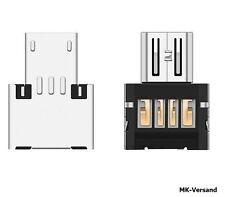 Micro USB Typ B mini Adapter Stecker auf USB Buchse Typ A 2.0 Host Stick
