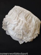 Soft Touch White Baby Frilly Cotton Knickers Age 12-18 Months -