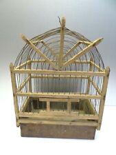 Vintage Used Wood Copper Based Handmade Small Animal Pet Decorative Birdcage