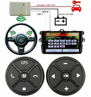 Car Steering Wheel Remote Control Wireless Smart Button Key Audio CD DVD GPS