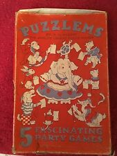 rare vintage puzzlems 1935 a. w. nugent 5 fascinating party games