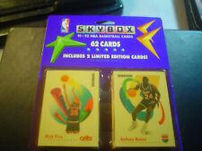 1991-92 Skybox Basketball Factory Sealed Blister Packs (1) 62 Cards.