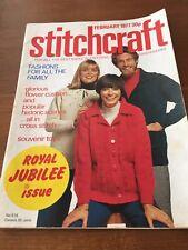 vintage stitchcraft magazine Feb 1977 Jubilee Edition Royal Patriotic Heraldic