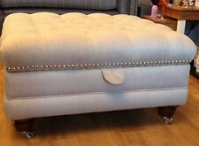Large Deep Buttoned Storage Footstool In Any Laura Ashley Fabric