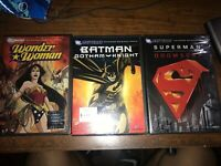 Dc Universe Dvds Lot , Superman , Batman, Wonderwoman Movies Brand New