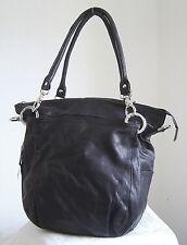 Handtasche Shoulder Bag Octopus Copenhagen feinstes Leder schwarz