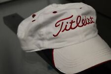 Titleist Golf Baseball Hat Cap Strap Back White Adjustable