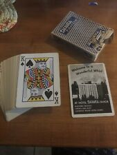Vintage deck Casino Playing cards Sahara Tahoe Blue Bee