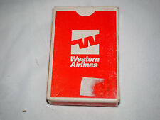 Vintage WESTERN AIRLINES PLAYING CARDS(Trump TM) in original box