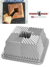 Nordicware TERRANCE SQUARE BUNDT PAN 10 Cup Squared PLEATS 8 3/4 x 4 Cake Bread