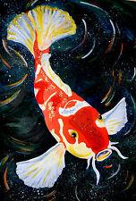 Incorniciato stampa-Stile Orientale Koi carpa pesce (PICTURE POSTER animali arte giapponese)
