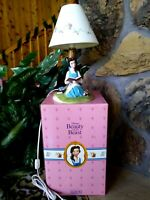BELLE SCHMID HAND GLAZED PORCELAIN FIGURINE LAMP DISNEY BEAUTY & BEAST, NEW NM-M