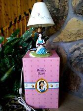 Belle Schmid Hand Glazed Porcelain Figurine Lamp Disney Beauty & Beast, New Nm-M